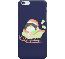 Penguin in Sleigh #2 iPhone Case/Skin