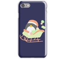 Penguin in Sleigh #2 iPhone Case/Skin