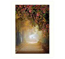 Stroll In The Fog Art Print