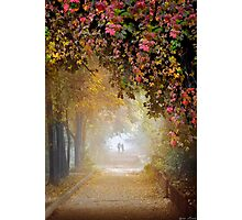 Stroll In The Fog Photographic Print