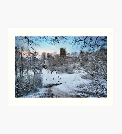 Sledging at St Mary's Art Print