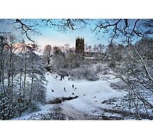 Sledging at St Mary's Photographic Print