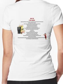 twelve rules to the twelve pubs/bars of christmas Women's Fitted V-Neck T-Shirt