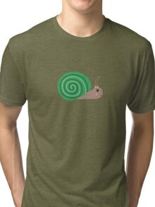 Cute green Snail Tri-blend T-Shirt