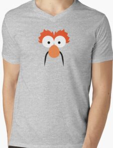 """Muppets """"Beaker"""" Mens V-Neck T-Shirt"""