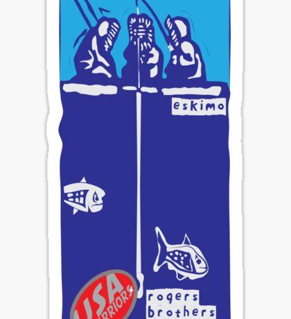 usa warriors eskimo by rogers bros Sticker