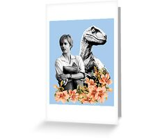Amanda // Raptor - Woman Inherits The Earth Greeting Card