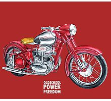 JAWA 500 oldschool, power, freedom - motorcycle Photographic Print