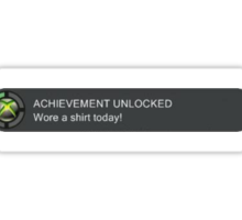 Xbox Achievement Unlocked Sticker