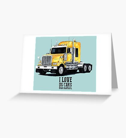 US TRUCK Greeting Card