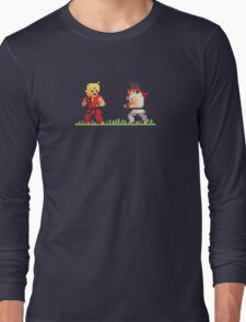 "Pixel Fighter ""Ken vs Ryu"" Long Sleeve T-Shirt"