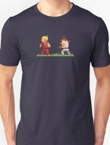 "Pixel Fighter ""Ken vs Ryu"" Unisex T-Shirt"