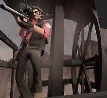Team Fortress 2 - The Sniper  by Kookynetta