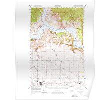 USGS Topo Map Washington State WA Wilbur 244691 1948 62500 Poster