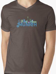 Skyline munich Mens V-Neck T-Shirt