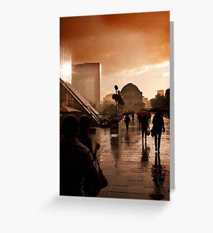 Rain in Birmingham Greeting Card