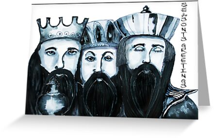 3 Kings Christmas card by Jenny Wood