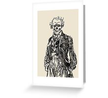 144 Portraits of Baudelaire: poe_T_ransfer 032 Greeting Card
