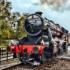 Stanier 48624 steam locomotive by picsl8