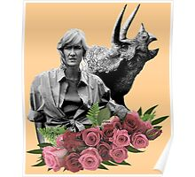 Ellie // Triceratops - Woman Inherits The Earth Poster