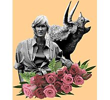Ellie // Triceratops - Woman Inherits The Earth Photographic Print