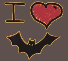 i love halloween bats by Tia Knight