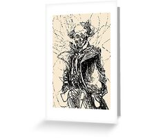144 Portraits of Baudelaire: poe_T_ransfer 035 Greeting Card