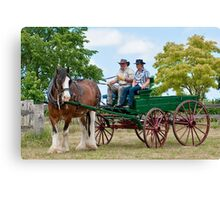0974 Driving Miss Clancy Canvas Print