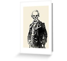 144 Portraits of Baudelaire: poe_T_ransfer 036 Greeting Card