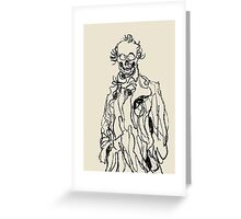 144 Portraits of Baudelaire: poe_T_ransfer 034 Greeting Card
