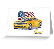Camaro - transformers Greeting Card