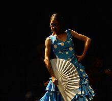 Toca Flamenco Blue Fan Low by bedoubleyou