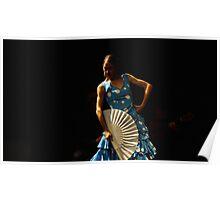 Toca Flamenco Blue Fan Low Poster