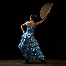 Toca Flamenco Blue Fan High by bedoubleyou