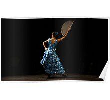 Toca Flamenco Blue Fan High Poster