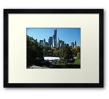 View of Central Park South Skyline,Wollman Rink, One57 Skyscraper, New York City Framed Print