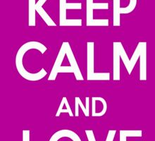 Keep Calm and Love Cats (Purple) Sticker