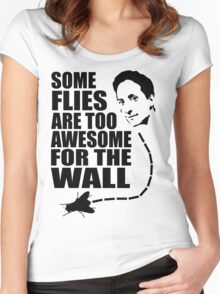 Too awesome for the wall Women's Fitted Scoop T-Shirt