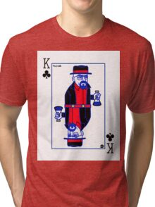 Walter White (Breaking Bad) - Playing card Tri-blend T-Shirt