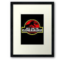 Billy And The Cloneasaurus - The Simpsons Framed Print