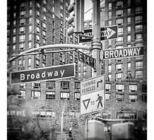 Looking for Broadway Photographic Print