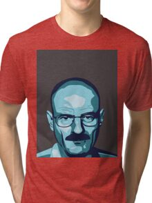 Walter White (Breaking Bad) - Cartoon Tri-blend T-Shirt