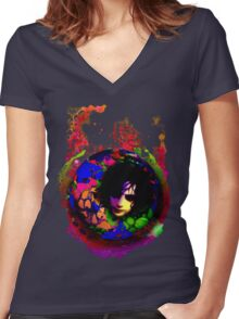 aSyd Women's Fitted V-Neck T-Shirt