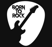 Guitar Born To Rock T Shirt Kids Tee