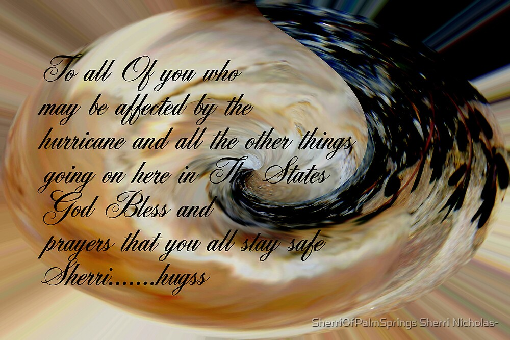GOD BLESS ALL WHOM MAY BE AFFECTED BY THE HURRICANE by Sherri     Nicholas