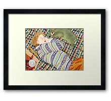Picnic With Bunny Framed Print