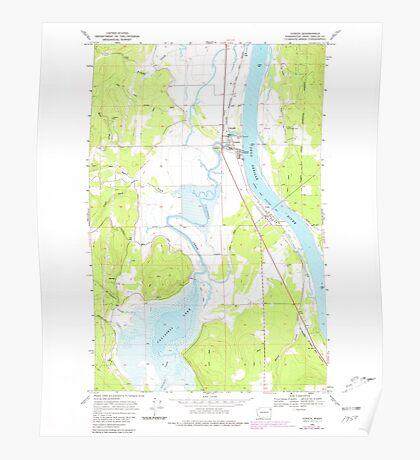 USGS Topo Map Washington State WA Cusick 240762 1968 24000 Poster
