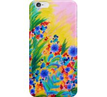 NATURAL ROMANCE in PINK - October Floral Garden Sweet Feminine Colorful Rainbow Flowers Painting iPhone Case/Skin
