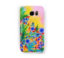 NATURAL ROMANCE in PINK - October Floral Garden Sweet Feminine Colorful Rainbow Flowers Painting Samsung Galaxy Case/Skin