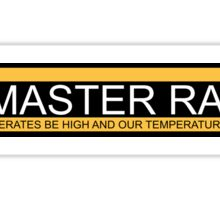 Glorious pc master race banner Sticker